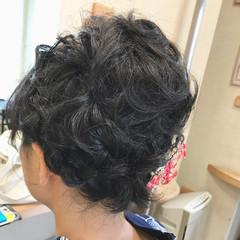 花火大会 夏 色気 ナチュラル ヘアスタイルや髪型の写真・画像