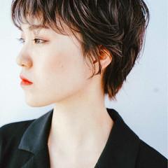 外国人風カラー 外国人風 ショート グレージュ ヘアスタイルや髪型の写真・画像