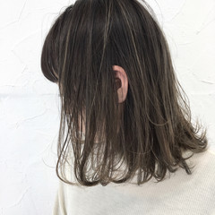 前髪あり ミルクティー ボブ フェミニン ヘアスタイルや髪型の写真・画像