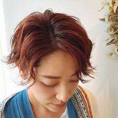 ヘアアレンジ ガーリー アウトドア ショート ヘアスタイルや髪型の写真・画像