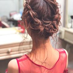 ロング フェミニン ヘアアレンジ パーティ ヘアスタイルや髪型の写真・画像