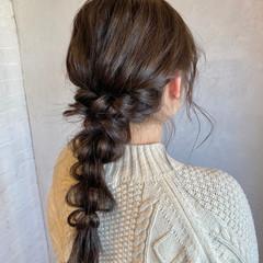 編みおろし お呼ばれヘア ゆるふわセット 編みおろしヘア ヘアスタイルや髪型の写真・画像