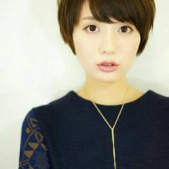 前髪あり ショート 外国人風 大人かわいい ヘアスタイルや髪型の写真・画像