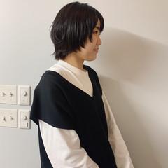 ウルフ女子 秋冬スタイル 黒髪 ショートヘア ヘアスタイルや髪型の写真・画像