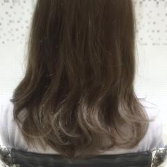 アッシュ グラデーションカラー 暗髪 黒髪 ヘアスタイルや髪型の写真・画像