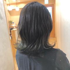 外国人風カラー グラデーションカラー ミディアム ブリーチカラー ヘアスタイルや髪型の写真・画像