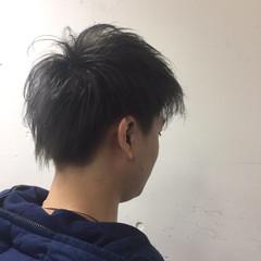 アッシュ 外国人風 黒髪 ショート ヘアスタイルや髪型の写真・画像