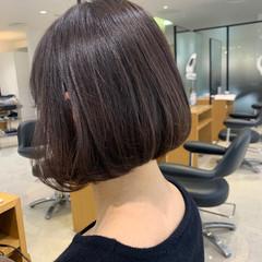 コンサバ ボブ 透明感カラー ヘアスタイルや髪型の写真・画像