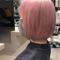 ブリーチ ピンクパープル ストリート ピンクアッシュ ヘアスタイルや髪型の写真・画像