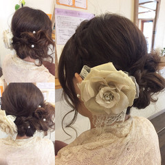 結婚式 コンサバ 小顔 大人女子 ヘアスタイルや髪型の写真・画像