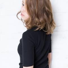 ストリート マルサラ デジタルパーマ ミディアム ヘアスタイルや髪型の写真・画像