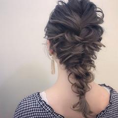 大人かわいい アンニュイ セミロング 謝恩会 ヘアスタイルや髪型の写真・画像