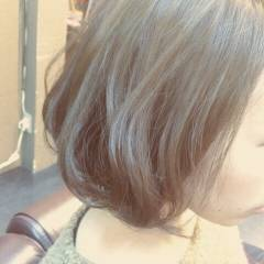 ナチュラル フェミニン ゆるふわ ボブ ヘアスタイルや髪型の写真・画像