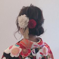 ナチュラル ヘアアレンジ ヘアセット 結婚式ヘアアレンジ ヘアスタイルや髪型の写真・画像