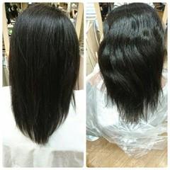 ナチュラル モテ髪 パーマ 縮毛矯正 ヘアスタイルや髪型の写真・画像