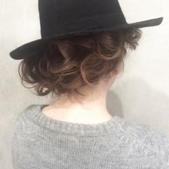 ボブ ショート ねじり 外国人風 ヘアスタイルや髪型の写真・画像