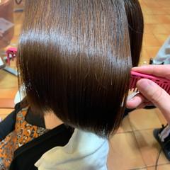 ボブ ショートヘア ミニボブ 縮毛矯正 ヘアスタイルや髪型の写真・画像