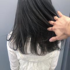 暗髪 就活 グレージュ ナチュラル ヘアスタイルや髪型の写真・画像