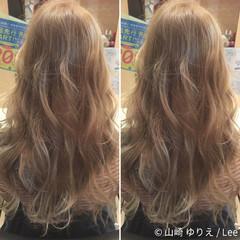 ガーリー ロング ゆるふわ アッシュ ヘアスタイルや髪型の写真・画像