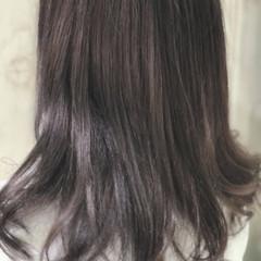 春 ミディアム ラベンダー ラベンダーアッシュ ヘアスタイルや髪型の写真・画像