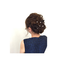 ショート ヘアアレンジ ロング ブライダル ヘアスタイルや髪型の写真・画像