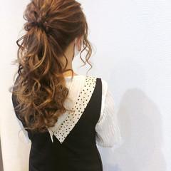 セミロング ポニーテール ヘアセット 結婚式 ヘアスタイルや髪型の写真・画像