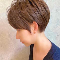 ショート ナチュラル ベリーショート 大人ハイライト ヘアスタイルや髪型の写真・画像