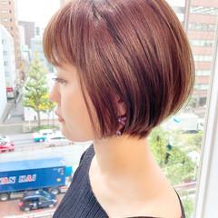 大人かわいい オフィス ショートヘア ショート ヘアスタイルや髪型の写真・画像