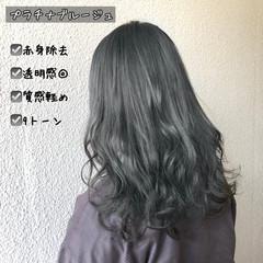 ガーリー インナーカラー セミロング オルティーブアディクシー ヘアスタイルや髪型の写真・画像