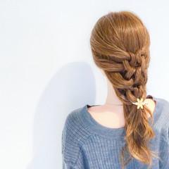 アウトドア 簡単ヘアアレンジ デート セミロング ヘアスタイルや髪型の写真・画像