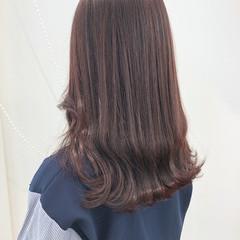 レッド オルチャン ロング ピンク ヘアスタイルや髪型の写真・画像