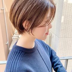 ショートボブ ショート オフィス デート ヘアスタイルや髪型の写真・画像