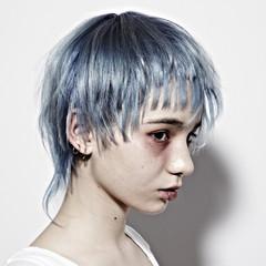 ブルー かっこいい モード ショート ヘアスタイルや髪型の写真・画像