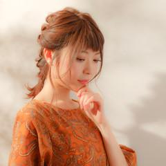 ガーリー ショート セミロング ヘアアレンジ ヘアスタイルや髪型の写真・画像