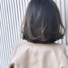 ナチュラル グレージュ 前髪あり 透明感 ヘアスタイルや髪型の写真・画像