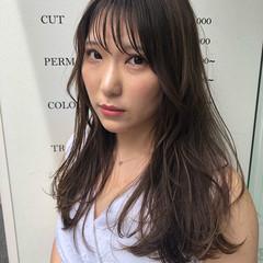 ベージュ 髪質改善 セミロング ナチュラル ヘアスタイルや髪型の写真・画像