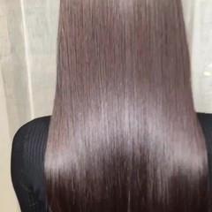 ナチュラル 艶髪 デート ストレート ヘアスタイルや髪型の写真・画像
