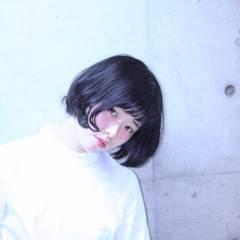 ストリート ボブ ウェットヘア パンク ヘアスタイルや髪型の写真・画像