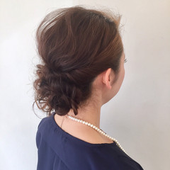 セミロング ヘアアレンジ 謝恩会 学校 ヘアスタイルや髪型の写真・画像