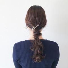 簡単ヘアアレンジ 大人女子 ニュアンス ナチュラル ヘアスタイルや髪型の写真・画像