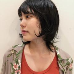 ストリート ウルフ女子 ミディアム レイヤー ヘアスタイルや髪型の写真・画像