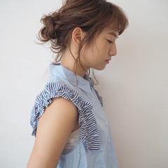 夏 色気 ヘアアレンジ ミディアム ヘアスタイルや髪型の写真・画像