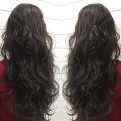 アッシュ 暗髪 ロング 外国人風 ヘアスタイルや髪型の写真・画像