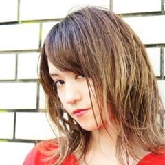 色気 グラデーションカラー ボブ ミディアム ヘアスタイルや髪型の写真・画像