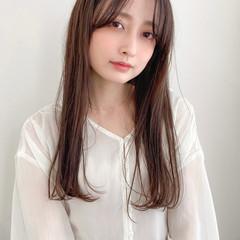 縮毛矯正ストカール ロング 縮毛矯正 ナチュラル ヘアスタイルや髪型の写真・画像