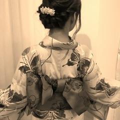 お祭り ヘアアレンジ 花火大会 ゆるふわ ヘアスタイルや髪型の写真・画像