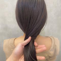 ロング インナーカラー ブリーチ無し ナチュラル ヘアスタイルや髪型の写真・画像