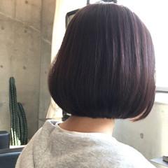 ボブ レッド ナチュラル 艶髪 ヘアスタイルや髪型の写真・画像
