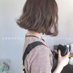 ミニボブ ボブ アッシュグレージュ グレージュ ヘアスタイルや髪型の写真・画像