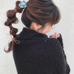 成人式 ナチュラル 簡単ヘアアレンジ ロング ヘアスタイルや髪型の写真・画像